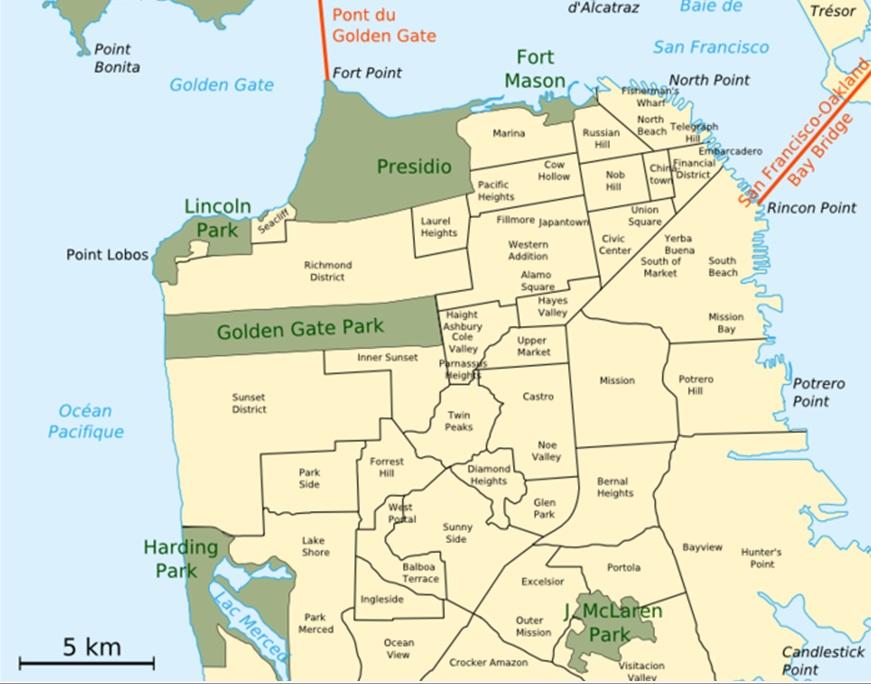 Mapa de San Francisco - WorldMapFinder